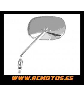 Espejo Custom rectangular cromo M10 Izdo